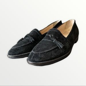 Manolo Blahnik Tassel Loafers   Black Suede